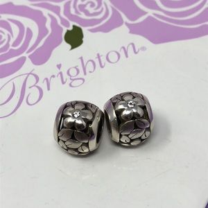 Brighton poetic silver flower charms 2
